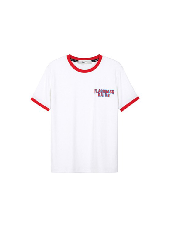 Flashback Ringer Tee in O/White(Red) VW9SE0230