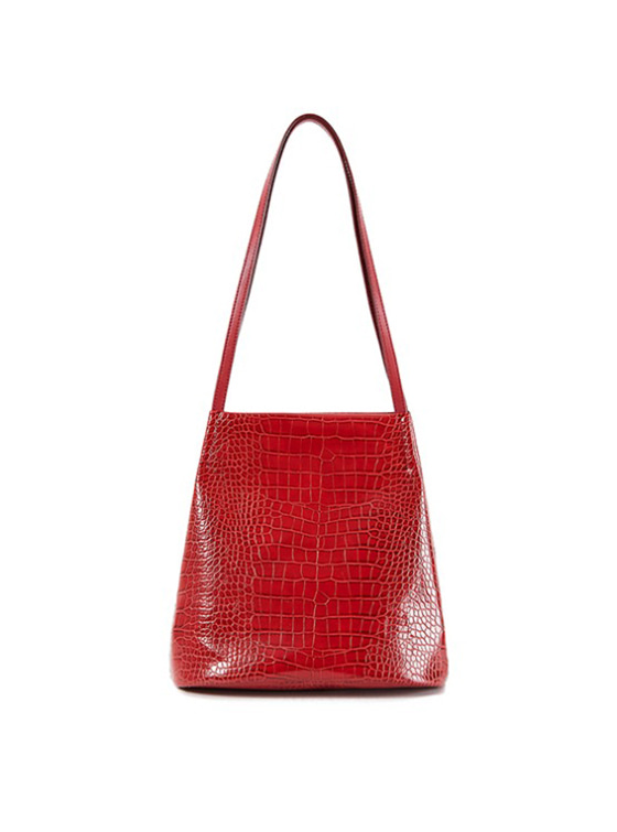 Mock Croc Tote Bag in Red VX9SG0260