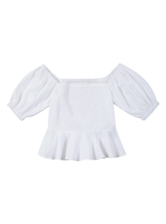 Square Puff Sleeve BL in Ivory VW9MB0330