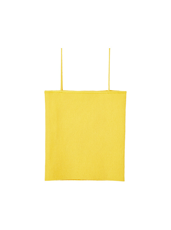 Ribbed Knit Camisole in Yellow VK9MP0930