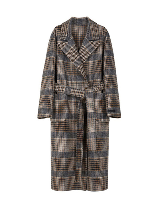 Reversible Handmade Coat in Check VW9WH0490