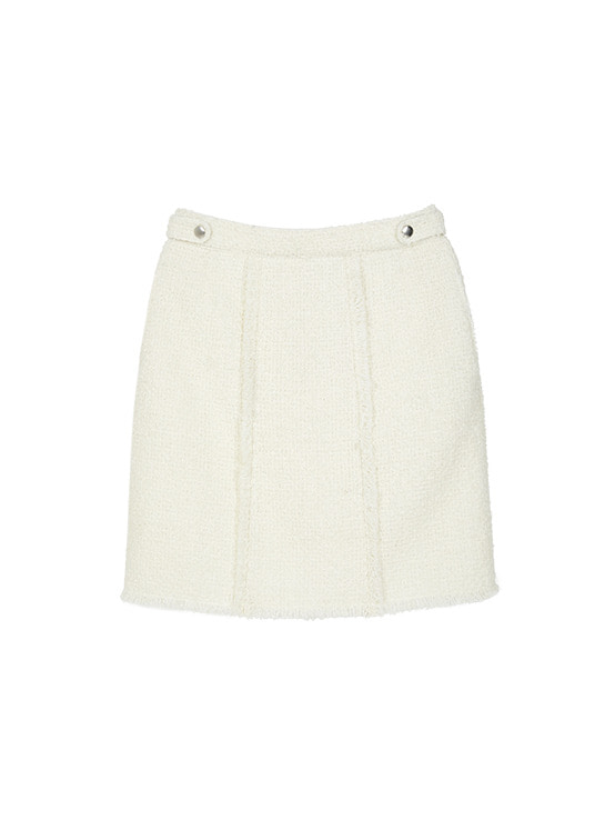 Tweed Mini Skirt in White VW9WS0440