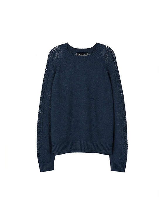 Scasi Knit Pullover in Navy VK8AP0550