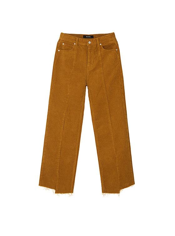 Corduroy Loose Fit Pants in Brown VW8AL0840