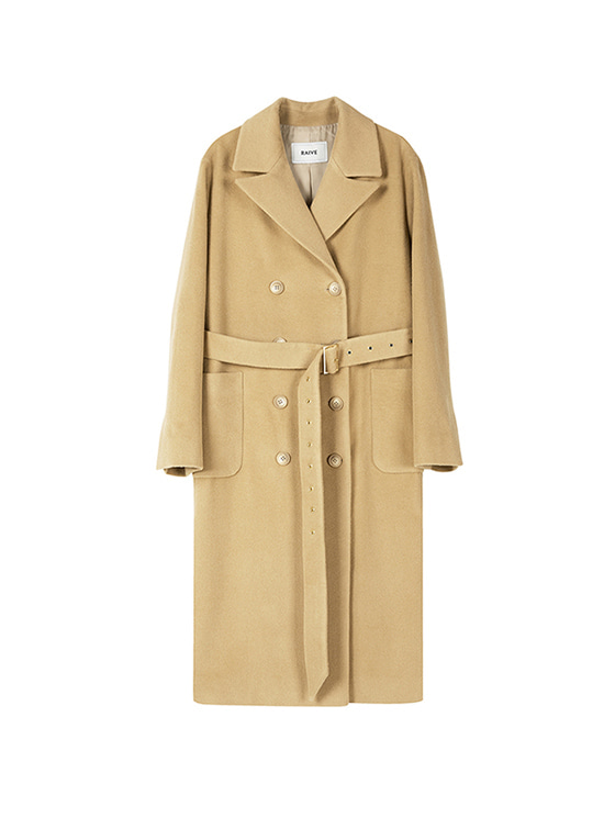 Cashmere Double Coat in Beige VW8WH0070