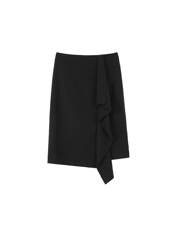 Unbalance Wrap Skirt in D.grey VW7WS0820