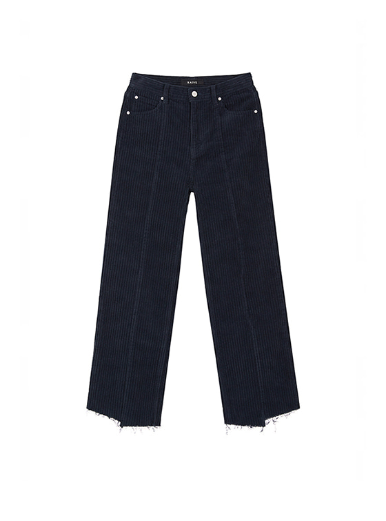 Corduroy Loose Fit Pants in Navy VW8AL0840