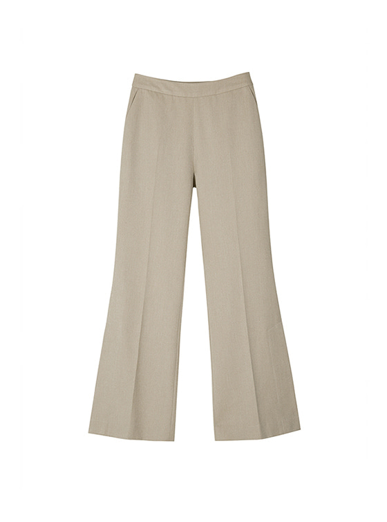 Slit Slacks in Beige VW8AL0830