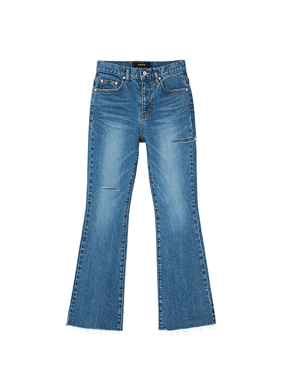 Ripped Bootcut Jeans in Blue VJ8AL0850
