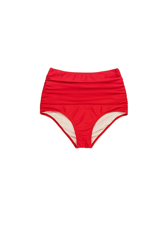 High-Waist Bikini Bottom in Red VW8MX0960