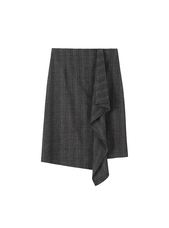 Unbalance Wrap Skirt in GB VW7WS0820